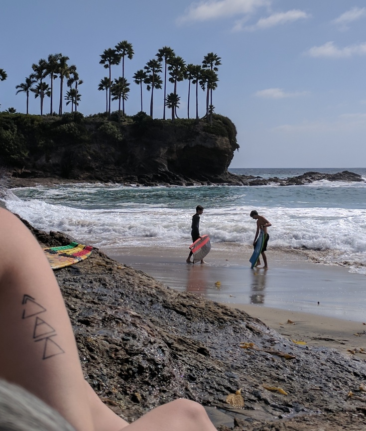 Let go at the beach