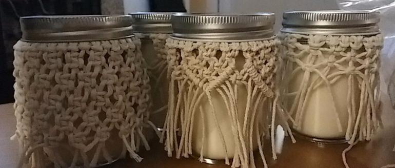 Macrame Candles