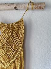 Stay Golden Macrame Tapestry