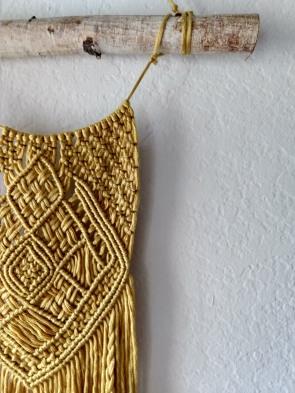 Stay Golden Macrame Tapestry