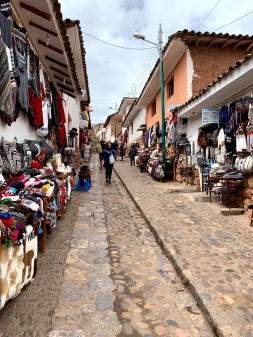 Streets of a small village in Peru